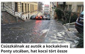 Ponty utca csúszkálás Budapest