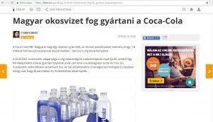 Okos víz Coca Cola